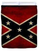 Battle Scarred Confederate Flag Duvet Cover