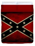 Battle Scarred Confederate Flag Duvet Cover