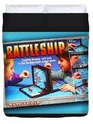 Battleship Board Game Painting  Duvet Cover