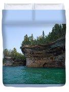 Battleship Row Rocks Duvet Cover