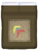 Bauhaus Symbol Paving Stone Duvet Cover