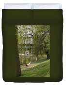 Bavarian Covered Bridge Over The Cass River Frankenmuthmichigan Duvet Cover