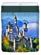 Bavaria's Neuschwanstein Castle Duvet Cover