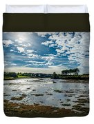 Bay At Low Tide In Clonakilty In Ireland Duvet Cover