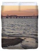Bay At Sunset Duvet Cover