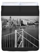 Bay Bridge Tower And San Francisco Skyline Duvet Cover