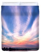 Bay Farm Island Sunrise Duvet Cover
