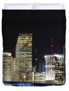 Bay Front Miami Skyline Duvet Cover