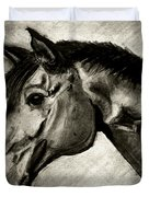 My Friend The Bay Horse Duvet Cover