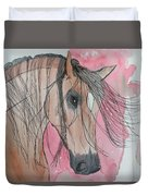 Bay Horse Watercolor Duvet Cover