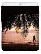 Bay Islands At Sunset Duvet Cover