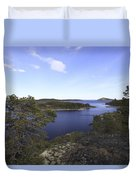 Bay Of The Baltic Sea And Pine Trees Duvet Cover