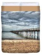 Bay Side Lynnhaven Fishing Pier Duvet Cover
