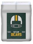 Baylor Bears Vintage Football Art Duvet Cover