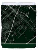 Baylor Street Map - Baylor University Waco Map Duvet Cover