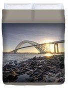 Bayonne Bridge Sunset Duvet Cover