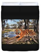 Bayou Mike Of Louisiana Duvet Cover