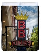 Bb King's Blues Club - Honky Tonk Row Duvet Cover