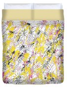 Bumble Bees Against The Windshield - V1cm89 Duvet Cover