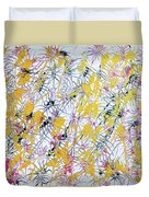 Bumble Bees Against The Windshield - V1lllt46 Duvet Cover