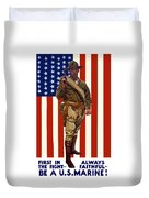 Be A Us Marine Duvet Cover