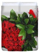 Be Mine Valentine By Presidential Candidate Catherine Lott Duvet Cover