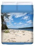 Beach And A Lake Duvet Cover