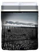 Beach And Fence Duvet Cover