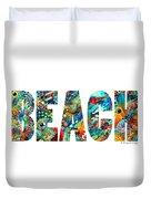 Beach Art - Beachy Keen - By Sharon Cummings Duvet Cover