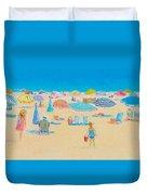 Beach Art - Every Summer Has A Story Duvet Cover