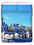 Beach Art - Waiting For Friends - Sharon Cummings Duvet Cover
