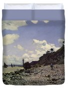 Beach At Honfleur Duvet Cover