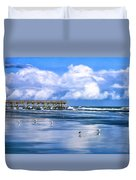 Beach At Isle Of Palms Duvet Cover