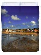 Beach At Perranporth Duvet Cover