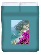 Beach At Positano Duvet Cover