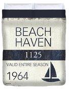 Beach Badge Beach Haven Duvet Cover