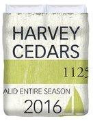 Beach Badge Harvey Cedars Duvet Cover