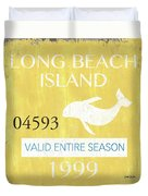 Beach Badge Long Beach Island 2 Duvet Cover