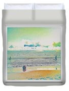 Beach Ball And Swimmers Duvet Cover