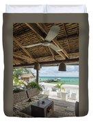 Beach Bar In Sok San Area Of Koh Rong Island Cambodia Duvet Cover