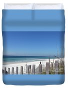 Beach Behind The Fence Duvet Cover