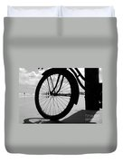 Beach Bicycle Duvet Cover