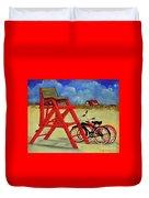 Beach Bikes Duvet Cover