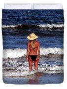 Beach Blonde - Digital Art Duvet Cover