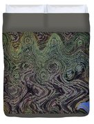 Beach Bubbles Abstract Duvet Cover