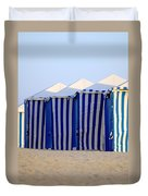 Beach Cabanas Duvet Cover