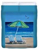 Beach Chair Bliss Duvet Cover