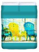 Beach Chair Print Duvet Cover