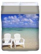 Beach Chairs Duvet Cover