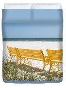 Beach Chairs By Darrell Hutto Duvet Cover